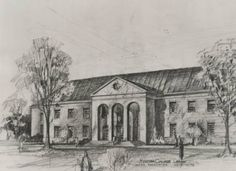 Illustration of the Duggan Library from the early 1970's.