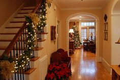 Lights on Staircase Garland