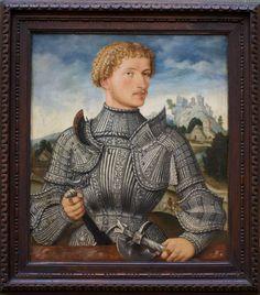 Meister LS, Bildnis eines Herrn Rehlinger (portrait of a Rehlinger gentleman) | da HEN-Magonza
