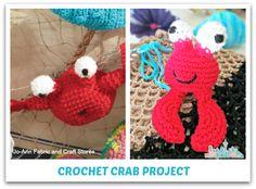 Crochet Crab Project Free Pattern #summerofjoann