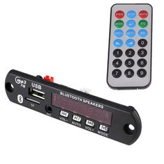 Cheapest Price $5.68, Buy DC 12V Car Digital LED USB AUX Bluetooth MP3 Music Decode Board Module Radio Audio Amplifier Remote