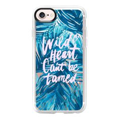Wild Heart Can't Be Tamed - iPhone 7 Case And Cover ($40) ❤ liked on Polyvore featuring accessories, tech accessories, phone cases, iphone case, apple iphone case, clear iphone case, iphone cover case and iphone cases