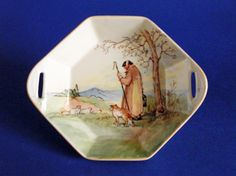 Royal Doulton 'Cotswold Shepherd' Series Octagon Sweet Dish D5561 c1935
