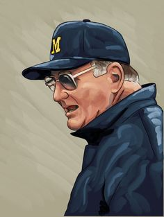 A digital painting I did of the late great Bo Schembechler. Michigan Athletics, Michigan Wolverines Football, Blue Football, Best Football Team, University Of Michigan, Football Season, College Football, Football Coaches, Sports Teams