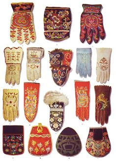 Gloves, mittens, bags in Scandinavian textiles. Textiles, Folklore, Object Lessons, Knit Mittens, Fingerless Mittens, Folk Costume, Costumes, Scandinavian Design, Textile Art