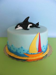 Gracies Birthday....Orca cake