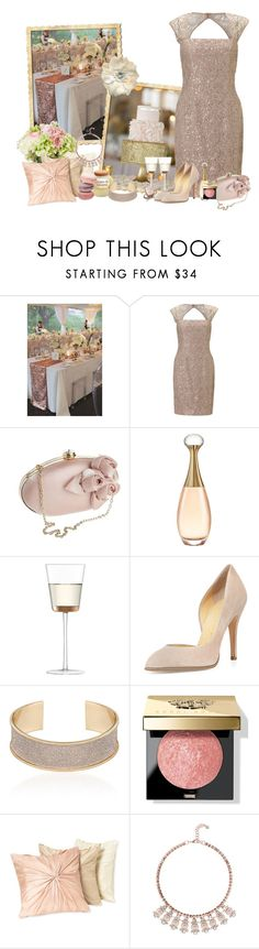 """""""Rose Gold"""" by frane-x ❤ liked on Polyvore featuring Classique, Adrianna Papell, Debut, Christian Dior, LSA International, Charlotte Olympia, Bobbi Brown Cosmetics, Nordstrom and Ted Baker"""