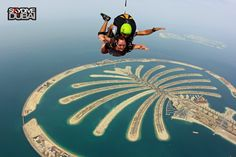 Tandem skydive with Skydive Dubai in Dubai, United Arab Emirates.
