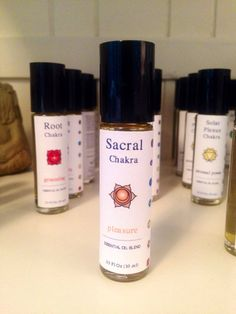 Sacral 2nd Chakra Roller Ball  Pleasure by EssentialWellbeings, $15.00