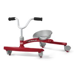 Radio Flyer Ziggle - Your child will love twisting, wiggling, and giggling their away around the neighborhood with the Radio Flyer Ziggle. This fun and durable ride has a strong and durable steel frame that's made to last for years. Designed for children ages three to six, the Ziggle allows advanced riders to gain sp...