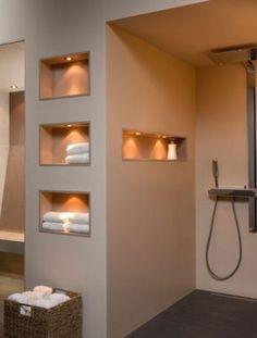 Washroom Design, Bathroom Design Luxury, Modern Bathroom Decor, Home Interior Design, Hotel Lobby Design, Bathroom Inspiration, New Homes, House Design, Alcoves