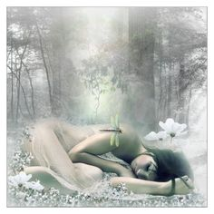 Healing Sleep by chechetta on Polyvore featuring картины