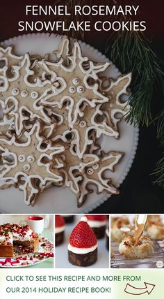 Fennel Rosemary Snowflake Cookies | Recipe