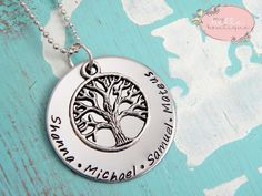 Personalized Hand Stamped Family Tree by MyBelleBoutique09 on Etsy, $25.00
