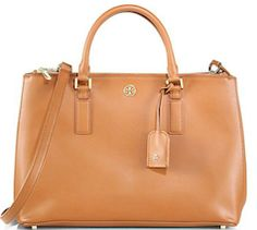 Tory Burch light brown leather bag