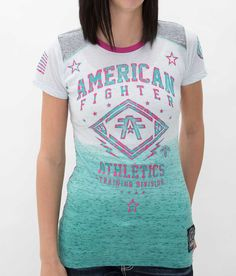 American Fighter Lindenwood T-Shirt - Women's T-Shirts in Hthr Grey Capri Fuschia American Fighter Shirts, Buckle Shirts, Buckle Outfits, Cute Shirts, Women's Shirts, Western Dresses, Country Girls, Spring Summer Fashion, Cute Outfits