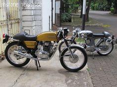 Honda CB200 Clubman + S90 Cafe Racer