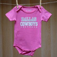 Cowboys Baby Practice Tee Bodysuit - Pink