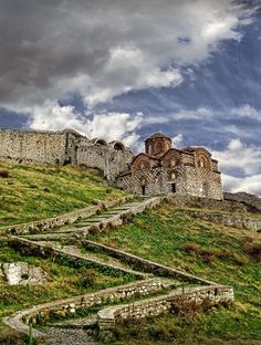 The castle of Berat, Albania with the 13th-century Byzantine Church of the Holy Trinity by Vindenis