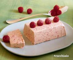 Semifreddo ai lamponi Cheesecake, Gelato, Parfait, Flan, Mousse, Raspberry, Ice Cream, Desserts, Recipes