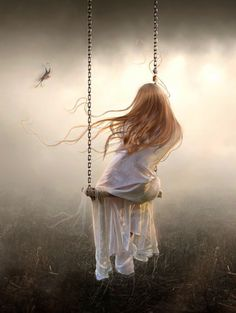 "Brisa- Inner Shield ""Echoes of dawn"" Ana Prazeres Fantasy World, Fantasy Art, Girl Swinging, Robert Louis Stevenson, Jolie Photo, Girl Photography, Swing Photography, Fantasy Photography, Ethereal"