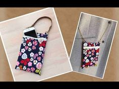 How to make a smartphone pouch ★ Kcoton Pencil Case Tutorial, Purse Tutorial, Sewing Hacks, Sewing Tutorials, Sewing Projects, Sewing To Sell, Free Sewing, Pouch Pattern, Cell Phone Purse