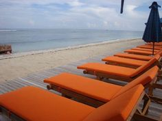 Sundeck right on the West Coast of Gili Trawangan