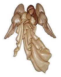 Intarsia angel.