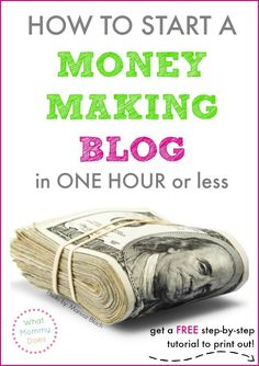 Do you wish you could make a little extra cash on the side or even up to a full time income from home? I know at least 50 bloggers who make well over $1,000 per month...why not you, too?!! One of the BEST ways to make extra money monthly is with a blog. What would you do with an extra $500, $1000, or even $3000 per month? This free printable printable tutorial will get you up and running with a money making blog the right way so you can earn some money in your free time!