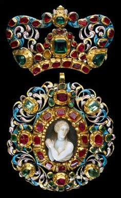 Pendant, with jewels, Europe, 16th century.