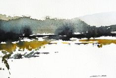 Rio Chama - Original Watercolor Painting - Make Up Forever Easy Watercolor, Watercolor Sketch, Watercolor Landscape, Abstract Watercolor, Watercolour Painting, Landscape Art, Landscape Paintings, Watercolours, Rio Grande