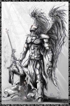 Resultado de imagem para archangel tattoo designs