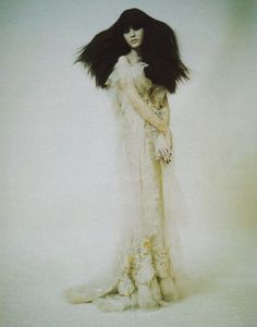Irina Lazareanu photographed by Paolo Roversi - Vogue Italia: March 2006 - A Dream of a Dress