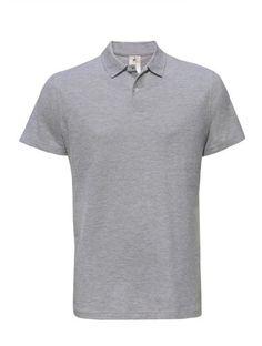 Piqué Polo Shirt 'ID_001' L,Heather Grey