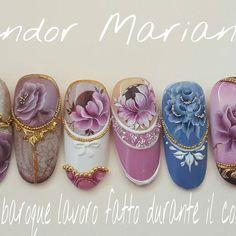 Baroque #sándormarianna#handmade#acrilycpainting#3dgel#baroquestyle#nailart