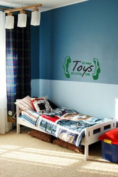 Wall color blocked - love for boys' bedroom