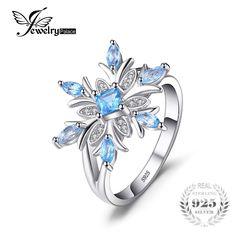 Fashion Round blue fire opal CZ 925 Silver Hollow Lotus Chaîne Collier Pendentif