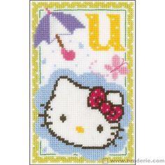 Hello kitty lettre u