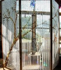 cutting edge room separators - Google Search Hanging Door Beads, Room Deviders, Page Dividers, Diy Room Divider, Beaded Curtains, Metal Beads, Crystal Beads, Living Room Designs, House Design