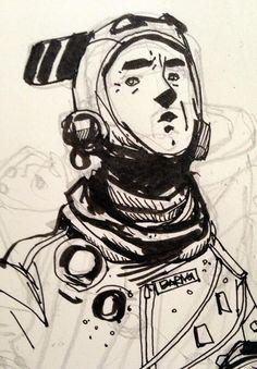 Twitter / ianmcque: Today's #inktober sketch. ...