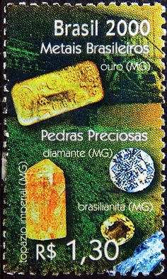 Brazil.  EXPO 2000 HANNOVER.  GOLD & GEMSTONES, SOUVENIR SHEET.  Scott 2743c A1500, Issued 2000 May 19, Litho., Perf. 10 3/4 x 11, 1.30. /ldb.