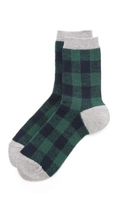 Madewell Buffalo Check Trouser Socks #WrappedUp #ShopBop