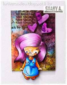 """Margot sitting with Skirt"" colouring by  Eulalia Gambini - on Etsy https://www.etsy.com/listing/210368177/shaky-a-sitting-margot-with-skirt?ref=related-6"