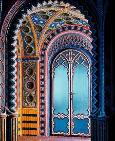 Oh my heavens! What a beautiful door! Castello di Sammezzano, Tuscany
