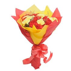 Check out our New Product  Yellow N Red Carnations Mothers Day Bunch of 20 carnations(10 yellow & 10 red) with red & yellow paper packing and ribbon  ₹999