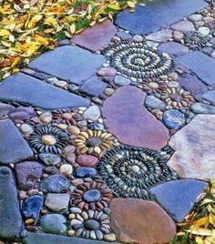 Creative Outdoor Mosaic flooring