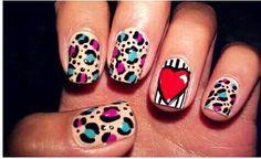 Ideas for nails simple design classy ring finger Cheetah Nail Art, Cheetah Nail Designs, Animal Nail Art, Nail Art Designs, Nails Design, Nail Art 2015, Red Carpet Makeup, Nail Art Photos, Ring Finger