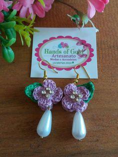 African Flowers, Leaf Flowers, Crochet Accessories, Magpie, Crochet Earrings, Boards, Craft, Business, Jewelry