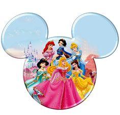 Disney Princesses Mickey Mouse Head Printable Digital Iron On Transfer Clip Art… Disney Diy, Disney Amor, Disney Cute, Arte Disney, Disney Ears, Disney Crafts, Disney Trips, Disney Mickey, Disney Pixar
