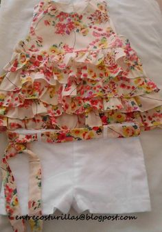 COMO HACER CAMISA DE VOLANTES (PATRÓN GRATIS) Baby Girl Frocks, Frocks For Girls, Kids Frocks, Little Girl Dresses, Sewing Kids Clothes, Baby Sewing, Designer Kids Clothes, Baby Girl Fashion, Kids Fashion